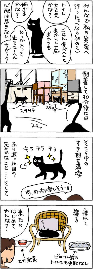 新しい場所でも平気な4コマ猫漫画