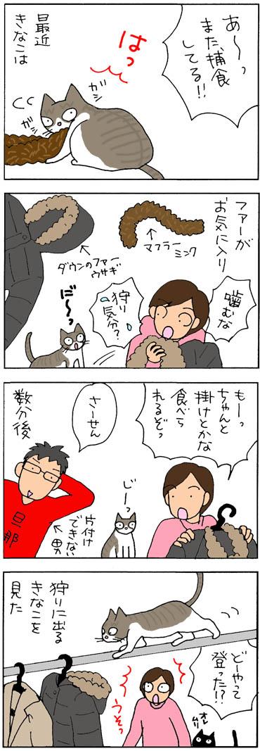 ファーの好きな猫の4コマ猫漫画