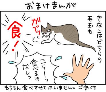 自分の毛玉を食べる猫漫画