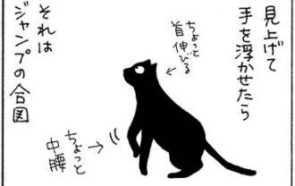 火に飛び込む4コマ猫漫画