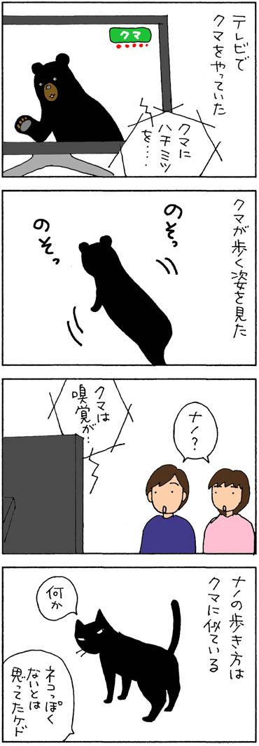 クマに似ている猫の4コマ漫画