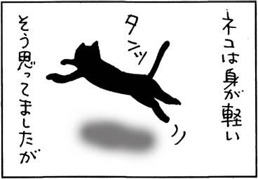 よいっしょっと上る猫の4コマ猫漫画