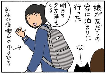 猫が鳴く理由の4コマ猫漫画