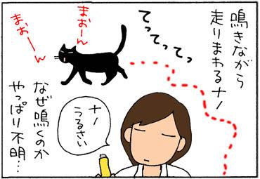 トイレを綺麗にしろと鳴く猫の4コマ漫画