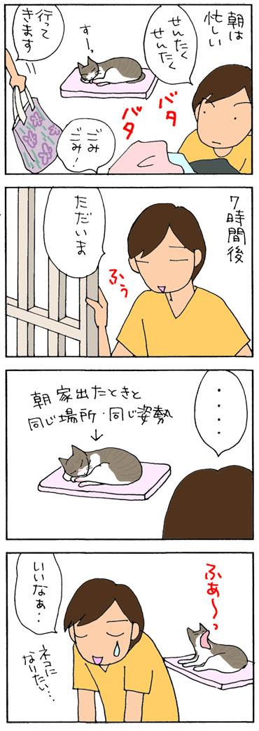 舞ったりしてて羨ましい猫の4コマ漫画