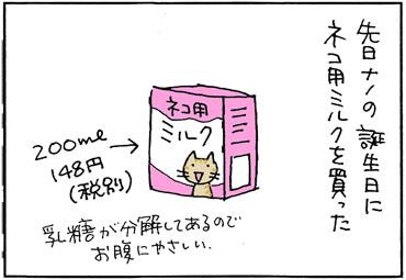 猫用ミルクの4コマ猫漫画