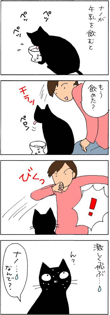 飲むのが下手な猫の4コマ漫画
