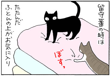 落ちそうで落ちない猫の漫画