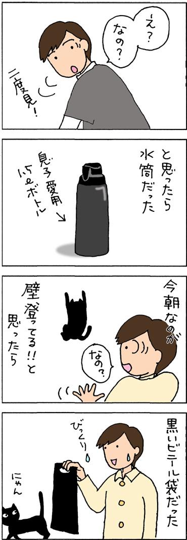 黒ければ黒猫の4コマ猫漫画