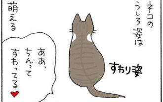 猫の後ろ姿が可愛い4コマ猫漫画