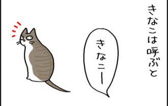 どんな名前出も返事する猫の4コマ猫漫画