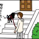 猫の散歩の4コマ猫漫画