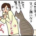 猫のフレーメン反応の4コマ猫漫画