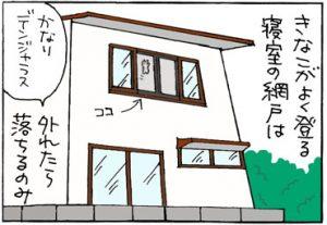 猫の安全対策の4コマ猫漫画