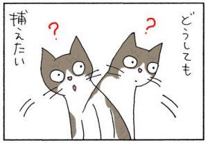 エンドロールを捕まえる猫の4コマ漫画
