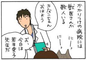 手術後の抜糸に行った4コマ猫漫画