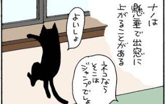 猫らしくない猫の4コマ猫漫画