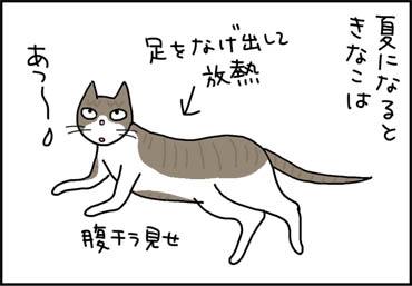 寝そべる猫の漫画