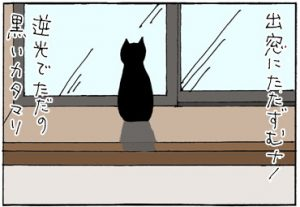 黒猫で遊ぶ4コマ猫漫画