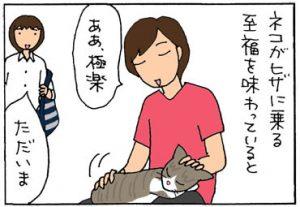 気遣いのできるネコの4コマ猫漫画