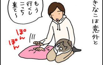 言う事を聞く猫と聞かない猫の4コマ猫漫画