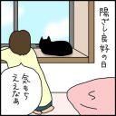 黒ネコの鼻くそ分かりにくい4コマ猫漫画