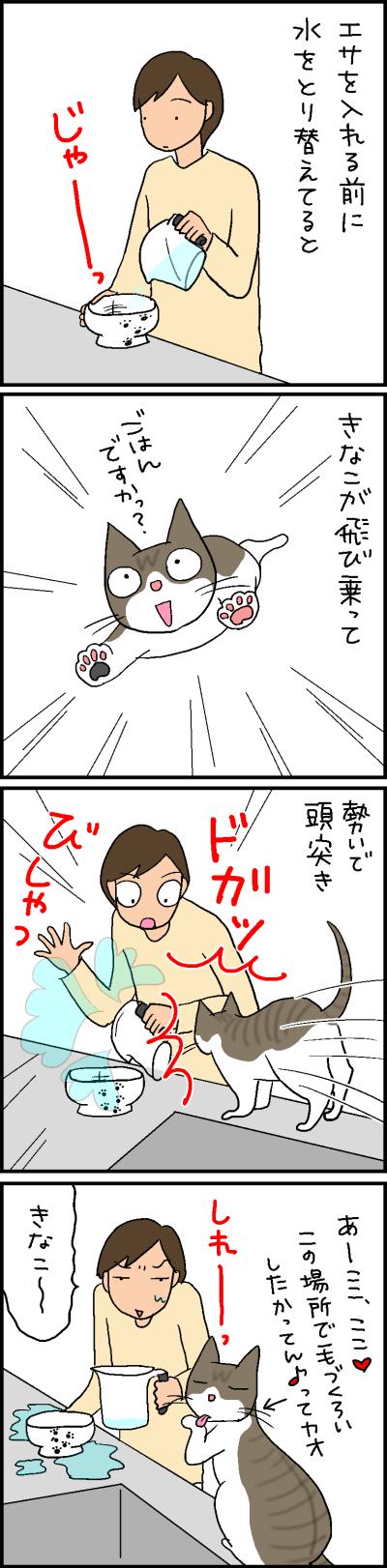 気まずい時は毛づくろいする猫の4コマ猫漫画