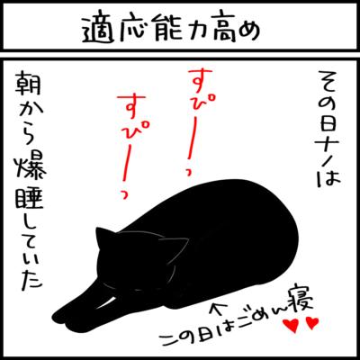 模様替えに適応する猫の4コマ猫漫画