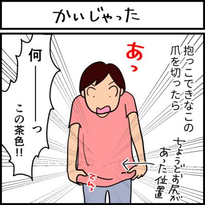 肛門嚢のにおいの4コマ猫漫画