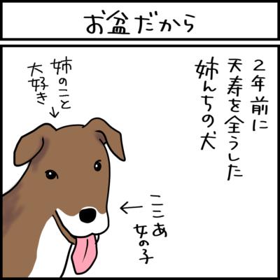亡くなった犬の毛が出てきた4コマ漫画