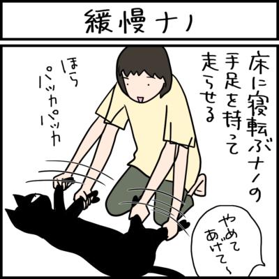 緩慢な動きの猫の4コマ猫まんが