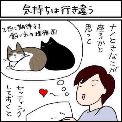 猫は雑な方が好きな4コマ猫漫画